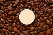 Brown Coffee Beanswith Label