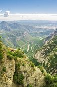 picture of gory  - Spain. Kataloniya.Gory an array and The monastery Montserrat. Landscapes and Attractions