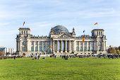 Tourists Walk Along Reichstag Area