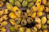 Banana On Sale At Fruit Market.