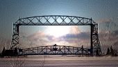 Aerial Lift Bridge in January Steam jpg