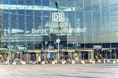 People Inside The Berlin Central Train Station In Berlin, Germany