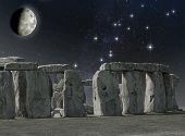Stonehenge Monument In The Moonlight