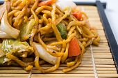 pic of lo mein  - Yakisoba Japanese food on a white background - JPG