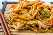 foto of lo mein  - Yakisoba Japanese food on a white background - JPG