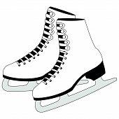 Figure White Skates