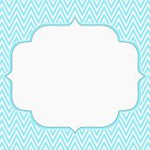 Teal And White Chevron Zigzag Frame Background