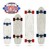 Set Of Blanks  Variety Form Longboards