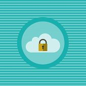 Cloud Security Flat Icon