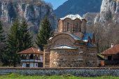 image of serbia  - Panorama of medieval Poganovo Monastery of St - JPG