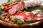 picture of antipasto  - Antipasto and catering platter with different appetizers - JPG