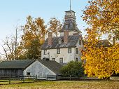 image of burlington  - The historic Batsto Mansion in Batsto Village in Burlington County New Jersey - JPG