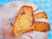 foto of home-made bread  - Home made sweet bread shot from above - JPG