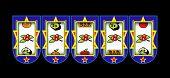 stock photo of slot-machine  - Cherry slot machine - JPG