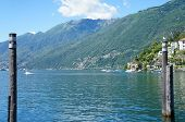 image of mountain chain  - Part of Ascona at Lake Maggiore in Ticino - JPG