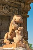 picture of kamasutra  - Sculpture of lion and woman - JPG