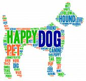 picture of working-dogs  - Dog shaped dog word cloud on a white background - JPG
