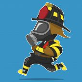 pic of gas mask  - Firefighter hurry - JPG