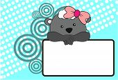 pic of baby sheep  - cute baby sheep girl background in vector format very easy to edit - JPG