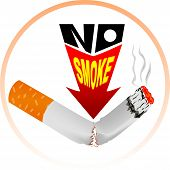 pic of smoke  - No Smoke A vector images Use for logos No smoking Cutting Sticker And printed vinil - JPG