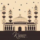 image of mosk  - illustration of a mosk for Ramadan Kareem - JPG