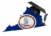 pic of virginia  - Conceptual image for higher learning at a college or university level in the US state of Virginia - JPG