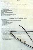 Corporate Balance Sheet & Reading Glasses