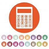 foto of calculator  - The calculator icon - JPG