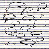 pic of bubble sheet  - Illustration of speech bubbles sheet of lined paper - JPG