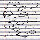 image of bubble sheet  - Illustration of speech bubbles sheet of lined paper - JPG