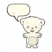 picture of bear cub  - cartoon polar bear cub - JPG