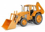 picture of backhoe  - 3D Backhoe loader - JPG
