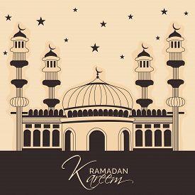 pic of mosk  - illustration of a mosk for Ramadan Kareem - JPG