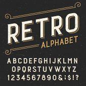 Retro alphabet vector font. poster