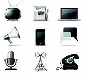 Communication Icons - B&w Series