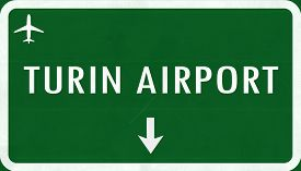 picture of torino  - Torino Italy Airport Highway Sign 2D Illustration - JPG