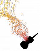 Easy To Edit Vector Illustration Of Wavy Music Notes Banner poster