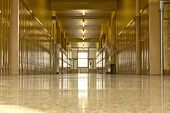 Empty High School Corridor