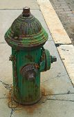 Old Green Hydrant poster