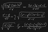 Mathematic blackboard