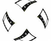 Voando a fronteira de tiras de filme