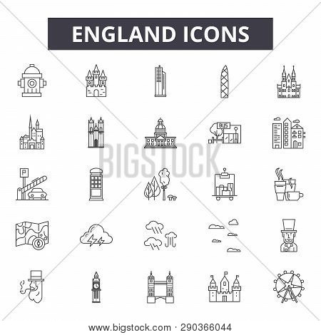 England Line Icons For Web