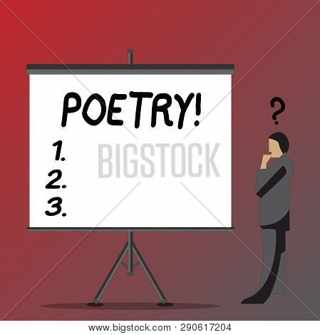 Text Sign Showing Poetry Conceptual
