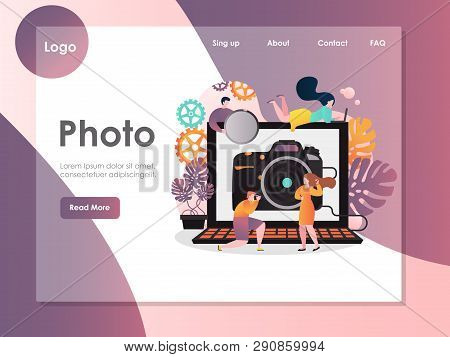 Photo Vector Website Landing Page