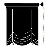 Kitchen Window Blind Icon. Simple Illustration Of Kitchen Window Blind Vector Icon For Web Design Is poster