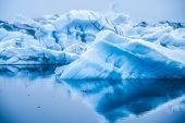 Icebergs In Jokulsarlon Glacial Lagoon In Iceland. poster