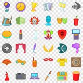 Entertainment Icons Set. Cartoon Style Of 36 Entertainment Vector Icons For Web For Any Design poster