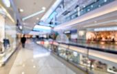 Interior Of Luxury Mall As Creative Abstract Blur Background. Panorama Of A Large Shop Or Store. Ins poster
