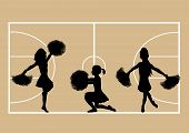 Cheerleaders Basketball 4