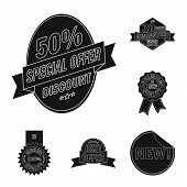 Vector Illustration Of Emblem And Badge Sign. Collection Of Emblem And Sticker Stock Symbol For Web. poster